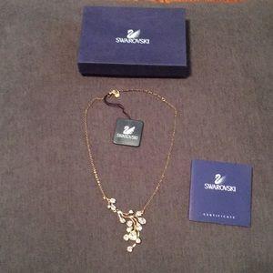 Swarovski Crystal Gold plated statement Necklace